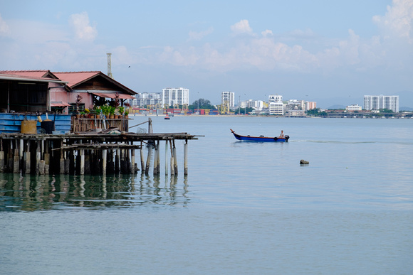 Fujifilm X-T1 SOOC - Cruising Along in a Motorboat - Tang Clan Jetty, Penang - Malaysia